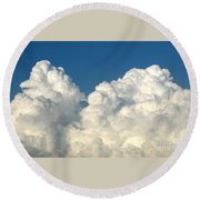 Billowing Clouds 1 Round Beach Towel