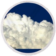 Billowing Clouds 4 Round Beach Towel