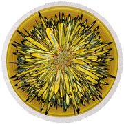 Billy Jean -- Floral Disk Round Beach Towel