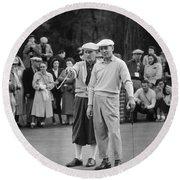 Bing Crosby And Ben Hogan Round Beach Towel