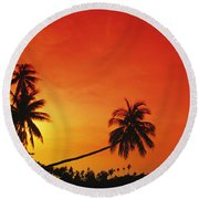 Bintan Island Sunset Round Beach Towel