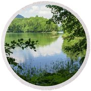 Biogradska Gora Forest  Round Beach Towel