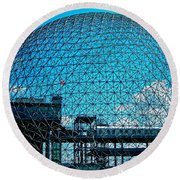 Biosphere Montreal Round Beach Towel