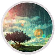 Birch Dreams Round Beach Towel