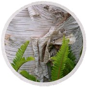 Birch Fern Round Beach Towel