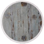 Birch - Fog 2 Round Beach Towel