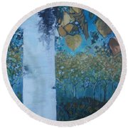 bIrCh LanE Round Beach Towel