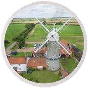 Bircham Windmill Round Beach Towel