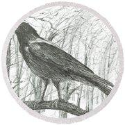 Bird, 2011 Round Beach Towel