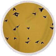 Bird Ballet Round Beach Towel