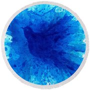 Bird Bath 2 Round Beach Towel