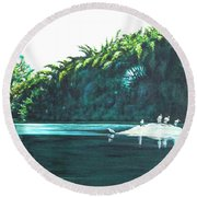Bird Haven Round Beach Towel