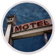 Bird House Motel #2 Round Beach Towel