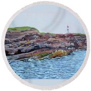Bird Island Round Beach Towel