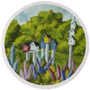 Bird Metropolis Round Beach Towel
