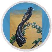 Bird Of Beauty, Ngiculela Round Beach Towel