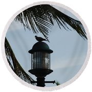 Bird On A Light Round Beach Towel