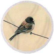 Bird On A Wire Round Beach Towel