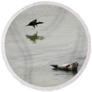 Bird Watching Round Beach Towel