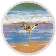 Birdling Round Beach Towel