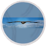 Birds 64 Round Beach Towel