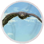Birds 66 Round Beach Towel