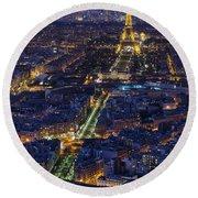 Bird's Eye On Paris 2 Round Beach Towel