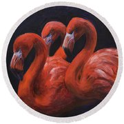 Birds Of A Feather Round Beach Towel