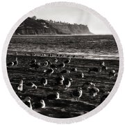 Birds Of A Feather... Round Beach Towel