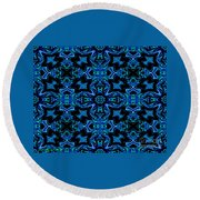 Birds Of Paradise Abstract Round Beach Towel