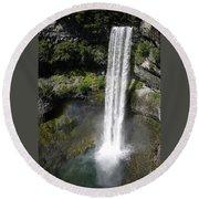 Brandywine Falls - British Columbia Round Beach Towel