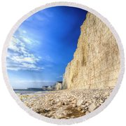Birling Gap And Seven Sisters Round Beach Towel
