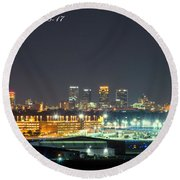 Birmingham Airport ,skyline Round Beach Towel