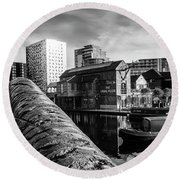Birmingham Waterway Round Beach Towel