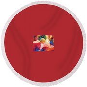 Birthday Party Round Beach Towel