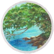 Biscayne Bay Round Beach Towel