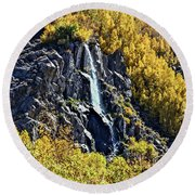 Bishop Creek Falls Round Beach Towel