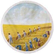 Bishop Hill Colony, 1875 Round Beach Towel