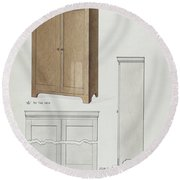 Bishop Hill: Cupboard Round Beach Towel