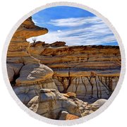 Bisti Badlands Formations - New Mexico - Landscape Round Beach Towel