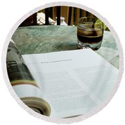 Bistro Table Study, Balcony Garden, Hunter Hill, Hagerstown, Mar Round Beach Towel
