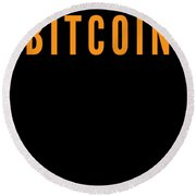 Bitcoin Changed My Life Tell The World Cryptocurrency Trader Or Hodl Love Crypto Gift Or Present For Round Beach Towel
