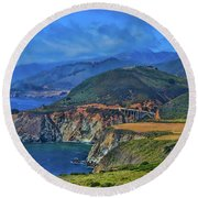 Bixby Bridge 1 Round Beach Towel