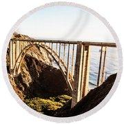 Bixby Bridge Round Beach Towel