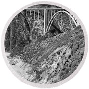 Bixby Creek Bridge Big Sur Photo  Circa 1939 Round Beach Towel