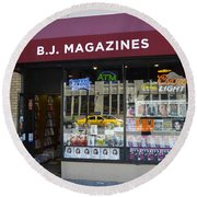 B.j. Magazines New York Round Beach Towel