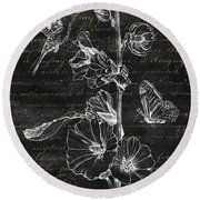 Black And Gold Hummingbirds 2 Round Beach Towel