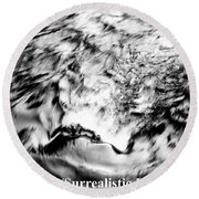 Black And Silver Round Beach Towel