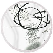 Black And White # 10 Round Beach Towel