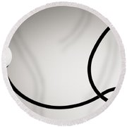Black And White Abstract Photography Round Beach Towel